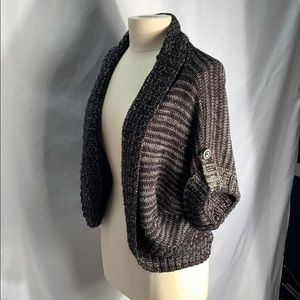 Say What Black and Grey Sweater Size Large